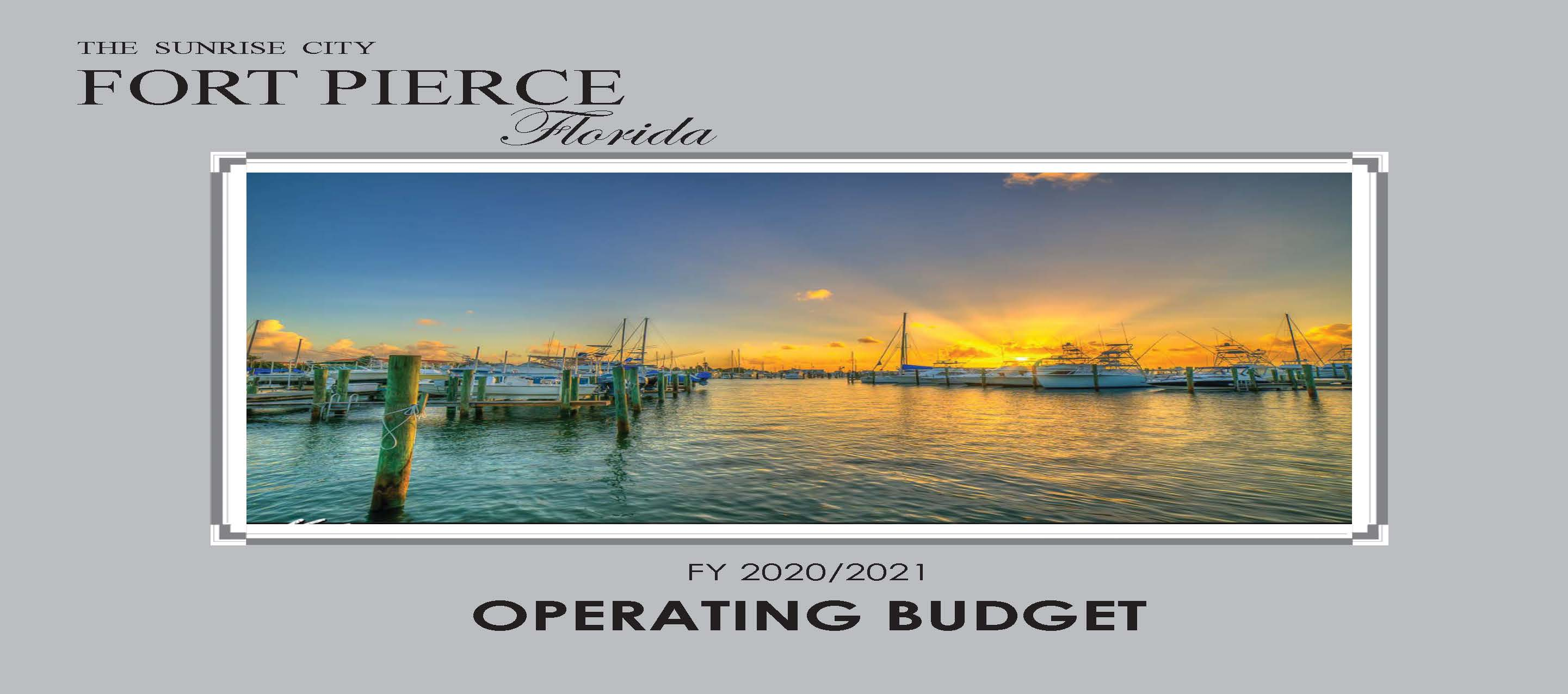 FY 21 Final Operating Budget cover