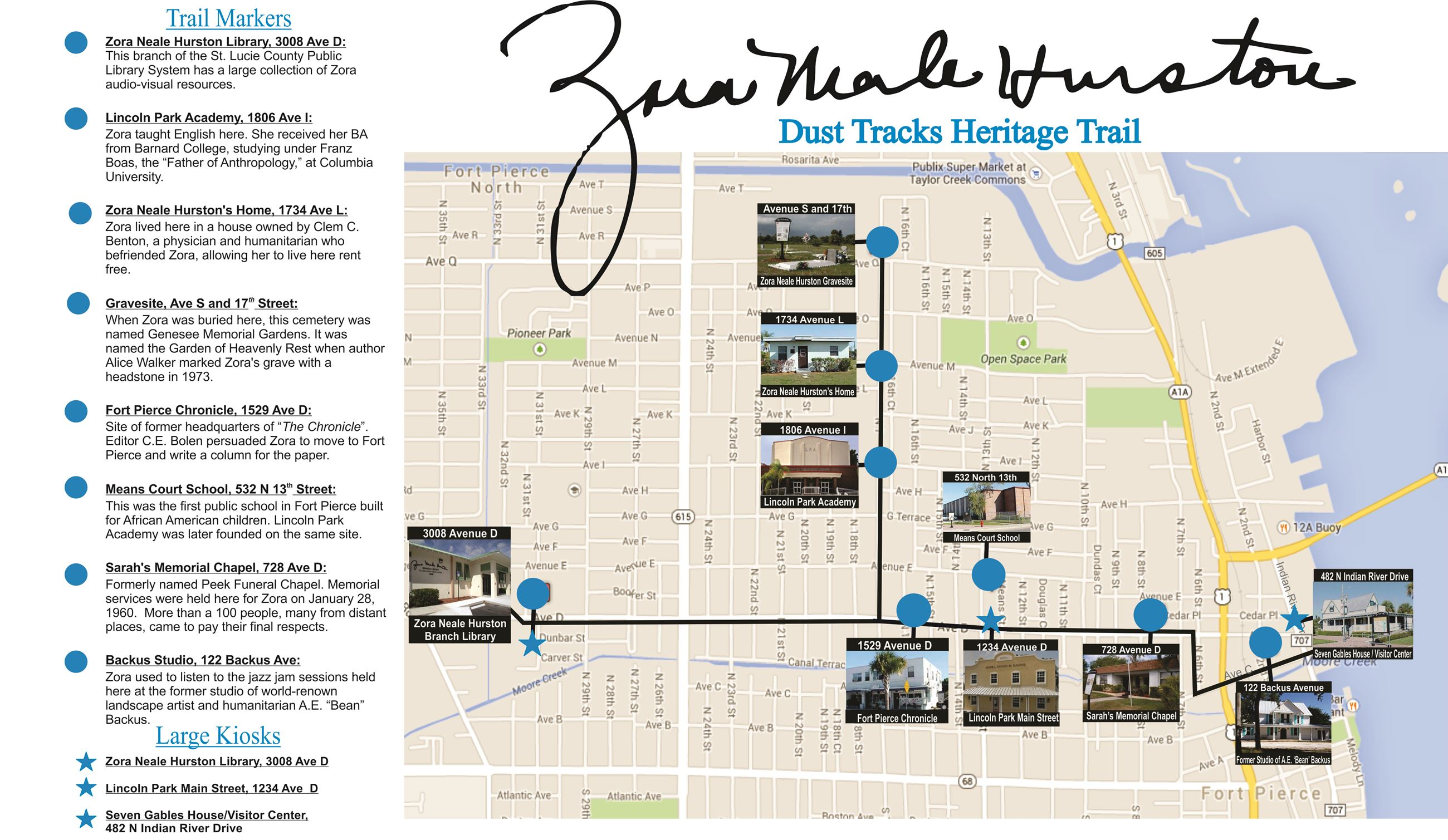 Hurston Trail Map