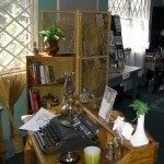 Photo of bedroom with typewriter