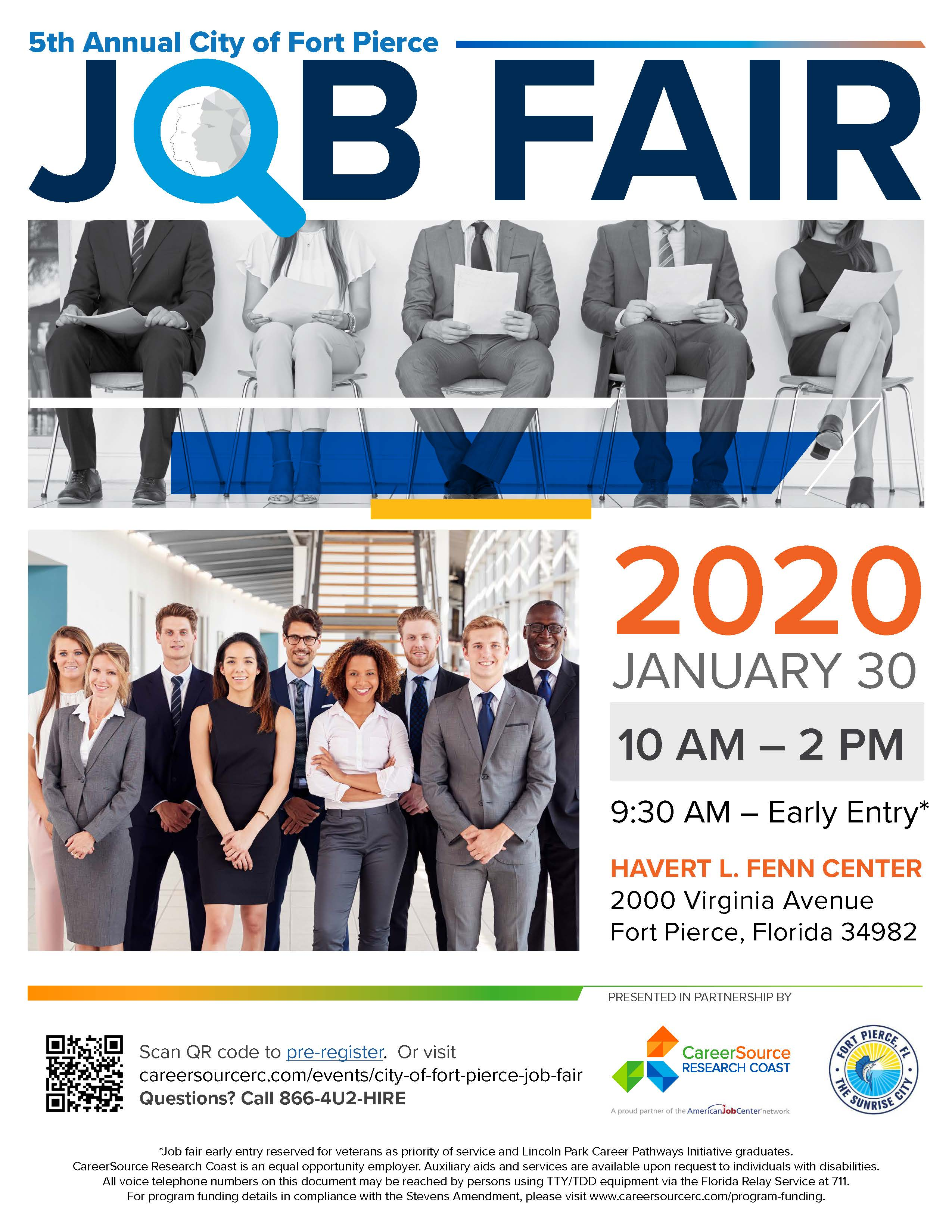 City of Fort Pierce Job Fair Job Seeker Flyer
