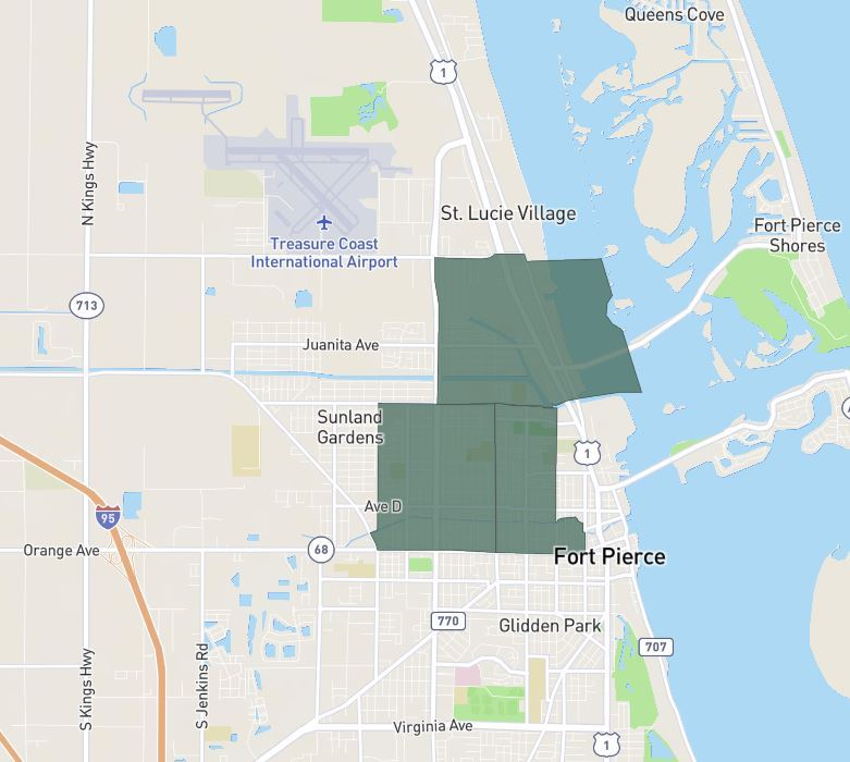 Fort Pierce Opportunity Zone Map