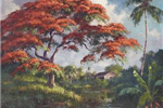 A painting of Moore&#39s Creek done by A.E. Backus